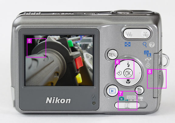 Nikon Coolpix L2 - rear view