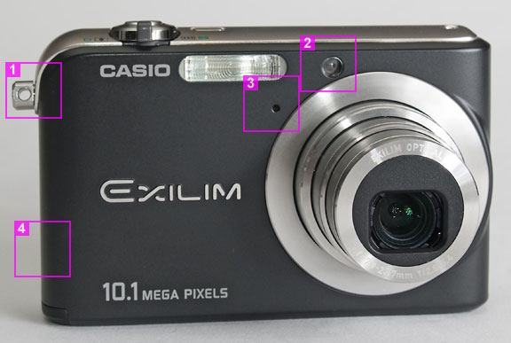 Casio Exilim Z1000 - front view