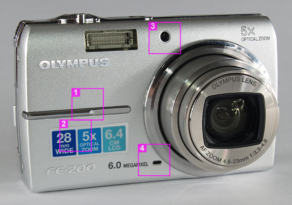 Olympus FE-200 - front view