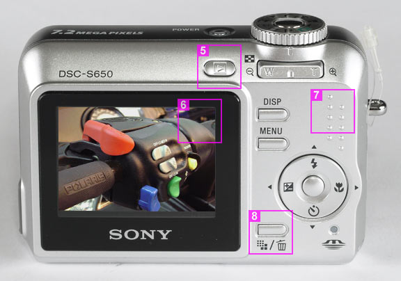 Sony S650 - back